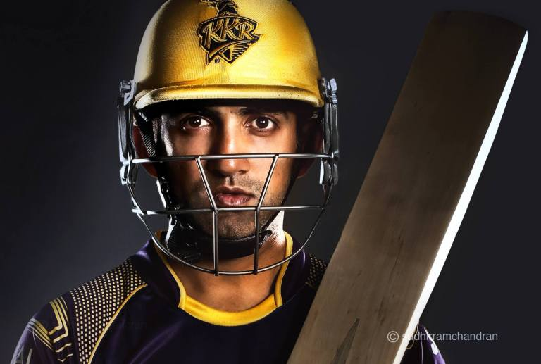 Gautam Gambhir for KKR by advertising photographer Sudhir Ramchandran