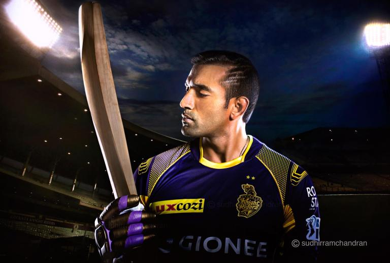 Robin Uthappa for KKR by advertising photographer Sudhir Ramchandran