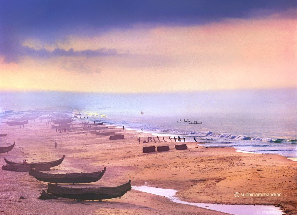World Oceans Day - Varkala beach located in South Kerala by advertising photographer Sudhir Ramchandran