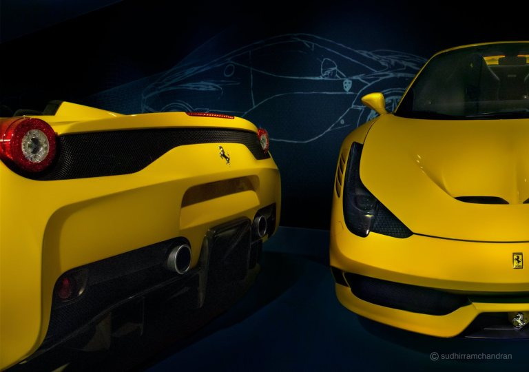 Ferrari 458 Speciale A, shot by photographer Sudhir Ramchandran
