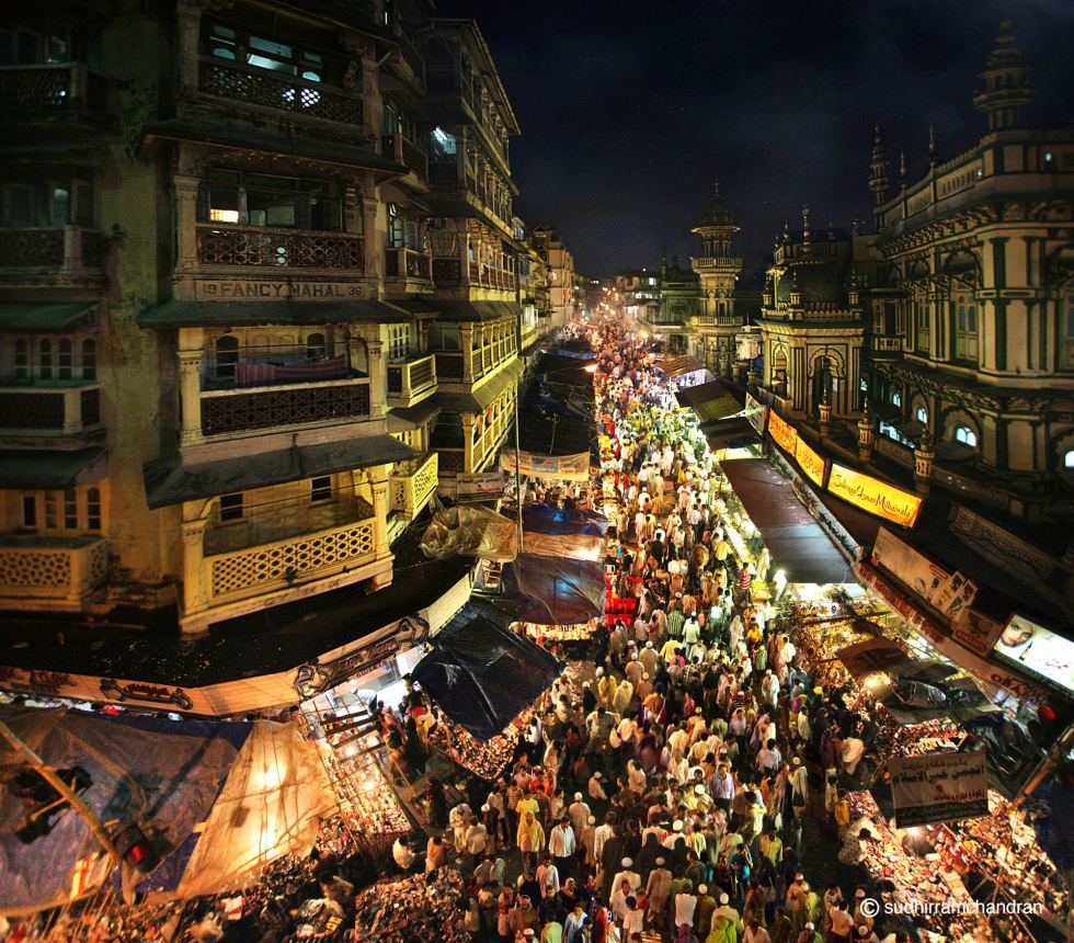 Mohammed Ali Road of South Mumbai during ramadan , by photographer Sudhir Ramchandran