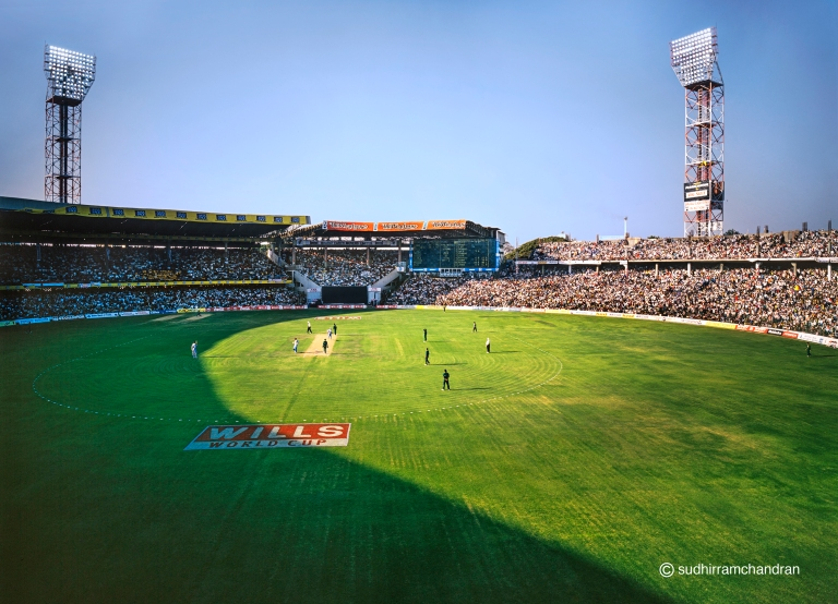India Vs Pakistan World Cup 1996 Cricket Match shot by photographer Sudhir Ramchandran